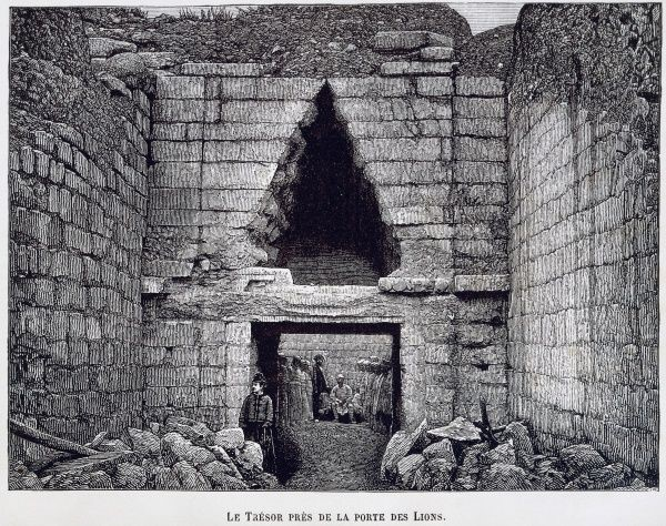 Εικ.4α: Ο τάφος του Ατρέα