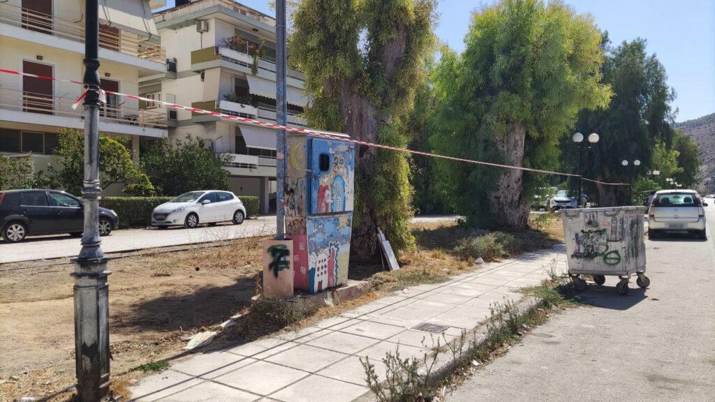 Κορδέλες για την ανάπλαση στην Αιγίου στο Ναύπλιο (1)